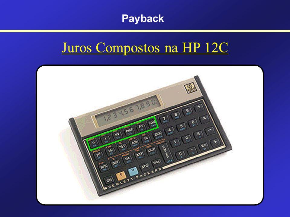 Cálculo do Payback Descontado Trazendo todo o FC para o presente CMPC = 10%a.a.