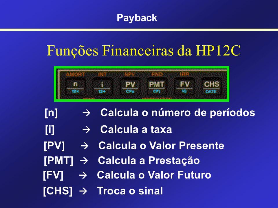 Juros Compostos na HP 12C Payback