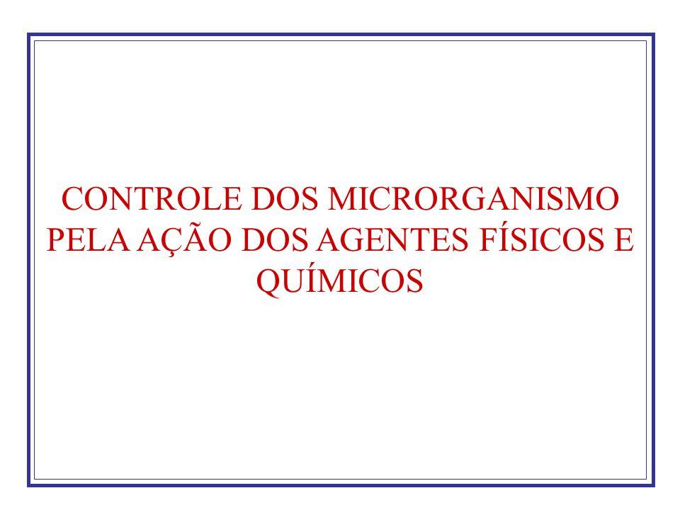 CONTROLE DOS MICRORGANISMO PELA AÇÃO DOS AGENTES FÍSICOS E QUÍMICOS