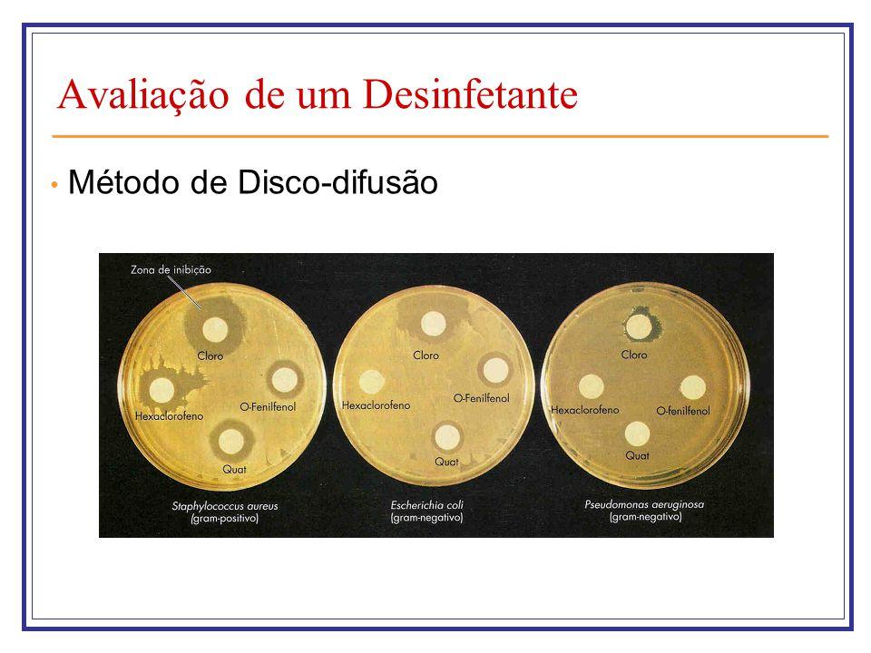 Avaliação de um Desinfetante Método de Disco-difusão