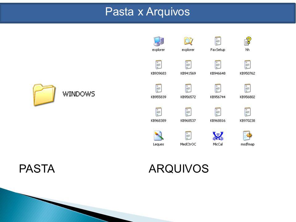 Gerenciadores de Arquivos Para mantermos os arquivos e as pastas do computador organizados, utilizamos um programa chamado Gerenciador de Arquivos.