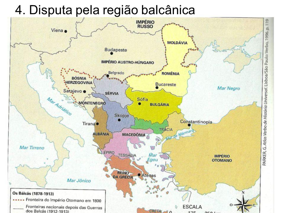 4. Disputa pela região balcânica