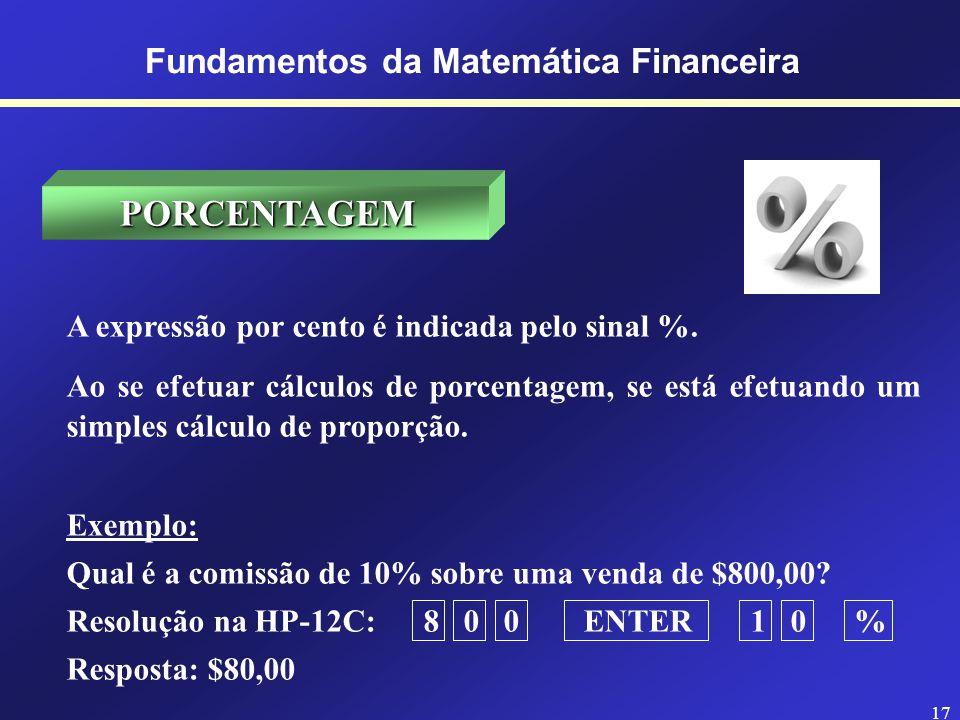16 INTRODUÇÃO ANALISAR OS RISCOS REDUZIR OS PREJUÍZOS AUMENTAR OS LUCROS Fundamentos da Matemática Financeira A Matemática Financeira tem como objetiv