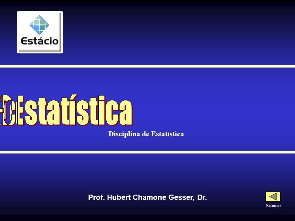 ESTATÍSTICA Os percentis dividem a disposição em 100 partes iguais P 1, P 2, P 3, P 4 P 5, P 6,..., P 99 P 1, P 2, P 3, P 4, P 5, P 6,..., P 99 Entre cada percentil há 1% dos dados da disposição Posição do Primeiro Percentil (P 1 ) = (n + 1) / 100 Posição do Segundo Percentil (P 2 ) = 2.(n + 1) / 100 Posição do Nonagésimo Nono Percentil (P 99 ) = 99.(n + 1) / 100 P 50 = Md P 25 = Q 1 P 75 = Q 3 PERCENTIS