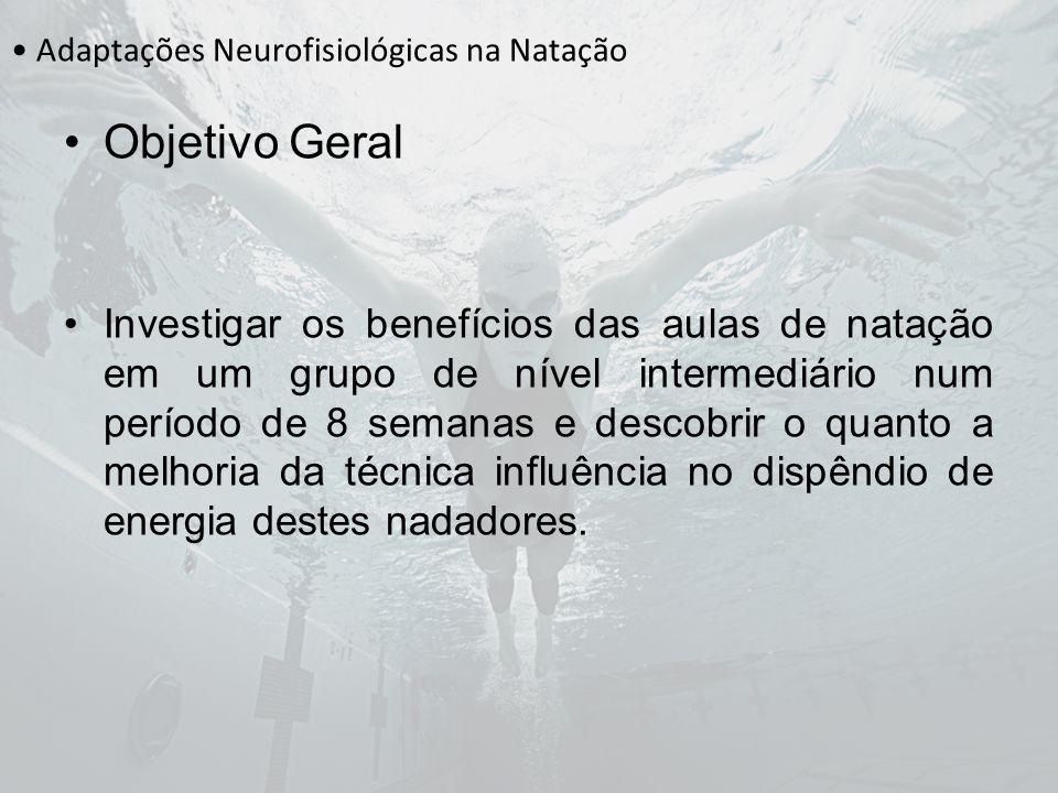 Adaptações Neurofisiológicas na Natação Objetivo Geral Investigar os benefícios das aulas de natação em um grupo de nível intermediário num período de