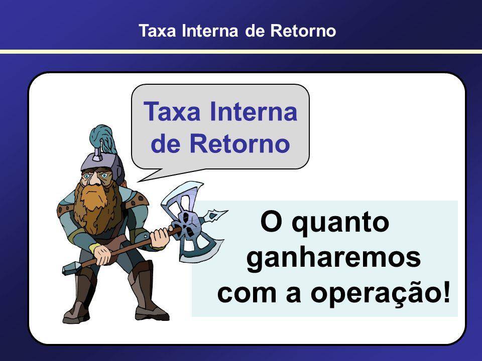 TIR A TIR (Taxa Interna de Retorno) é a taxa de desconto que iguala os fluxos de caixa ao investimento inicial. Em outras palavras é a taxa que faz o