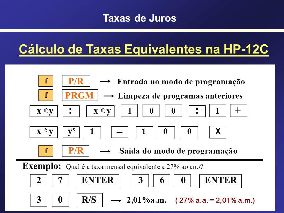 Exemplos de Juros Compostos Equivalentes Exemplos de Juros Compostos Equivalentes 435,03% a.a.131,31% a.s.15% a.m. 213,84% a.a.77,16% a.s.10% a.m. 79,