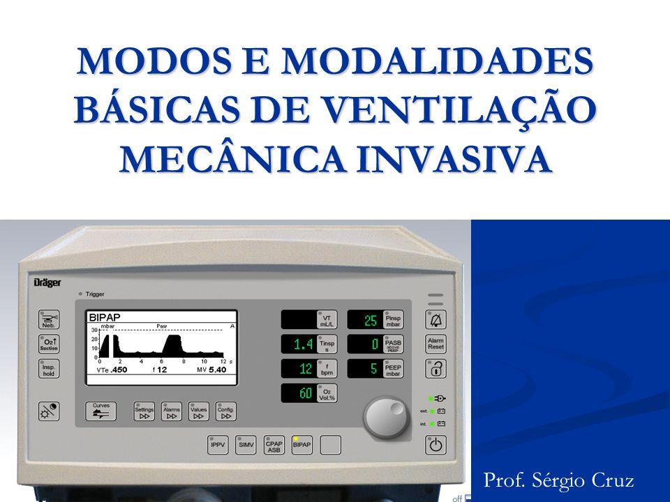 MODOS E MODALIDADES BÁSICAS DE VENTILAÇÃO MECÂNICA INVASIVA Prof. Sérgio Cruz