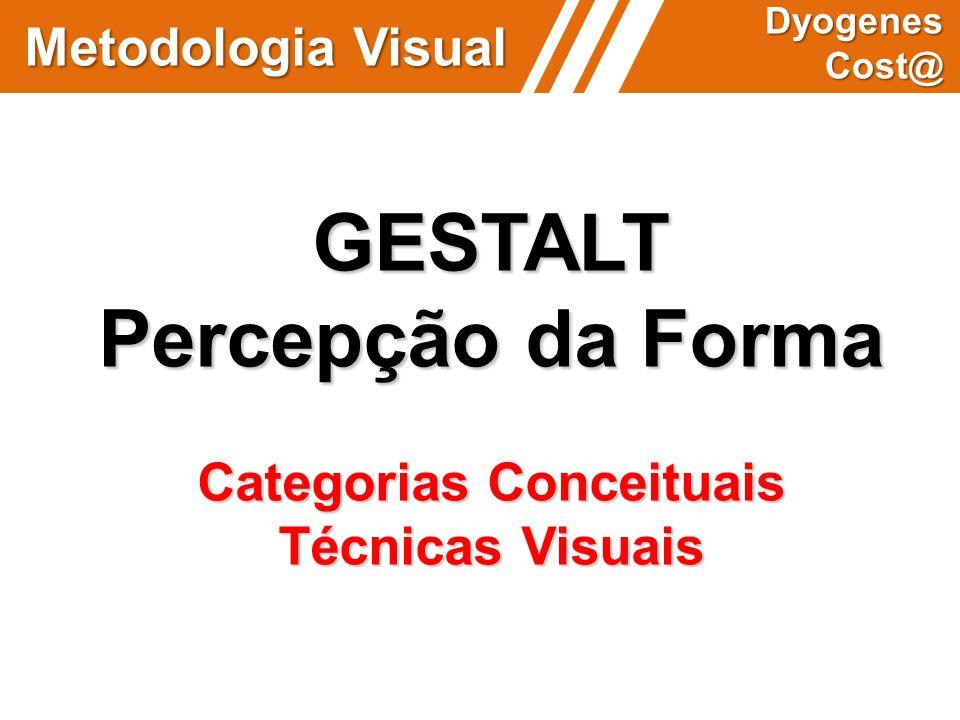 Metodologia Visual Dyogenes Cost@ GESTALT Percepção da Forma Categorias Conceituais Técnicas Visuais