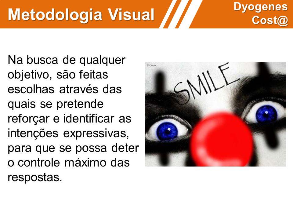Metodologia Visual Dyogenes Cost@ Na busca de qualquer objetivo, são feitas escolhas através das quais se pretende reforçar e identificar as intenções
