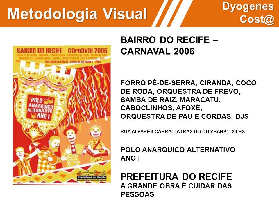 Metodologia Visual Dyogenes Cost@ BAIRRO DO RECIFE – CARNAVAL 2006 FORRÓ PÉ-DE-SERRA, CIRANDA, COCO DE RODA, ORQUESTRA DE FREVO, SAMBA DE RAIZ, MARACA