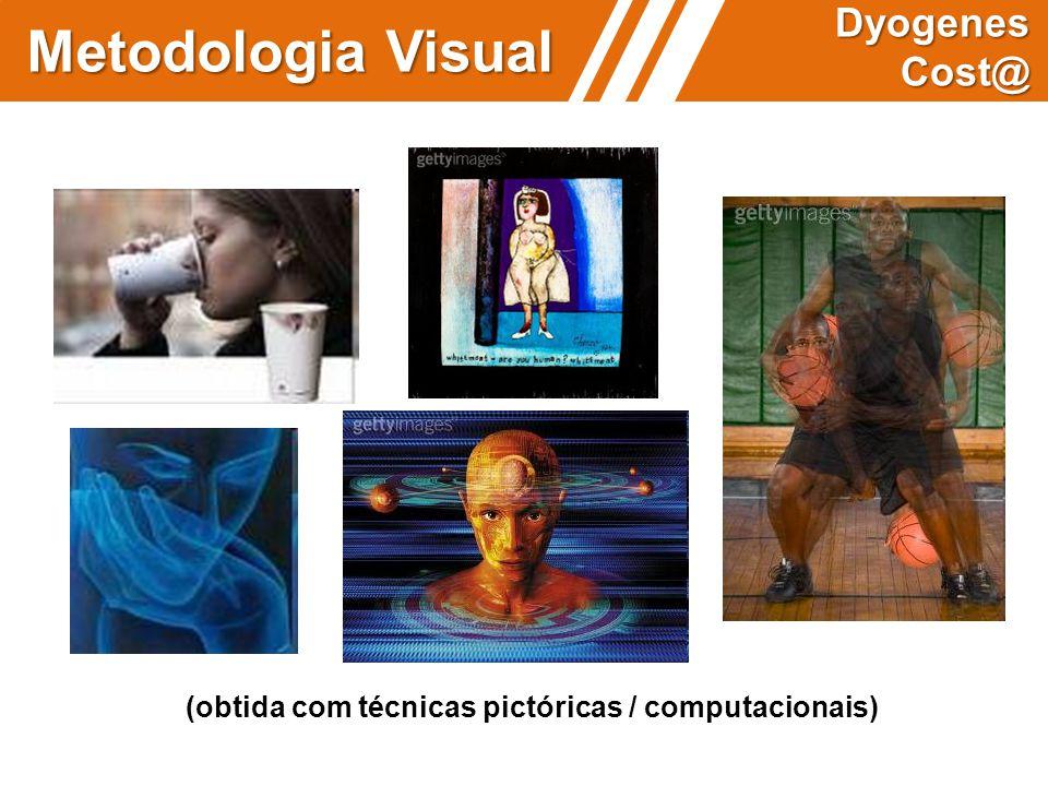 (obtida com técnicas pictóricas / computacionais) Metodologia Visual Dyogenes Cost@