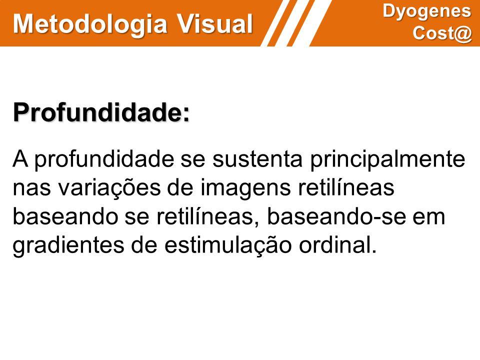 Metodologia Visual Dyogenes Cost@ Profundidade: A profundidade se sustenta principalmente nas variações de imagens retilíneas baseando se retilíneas,