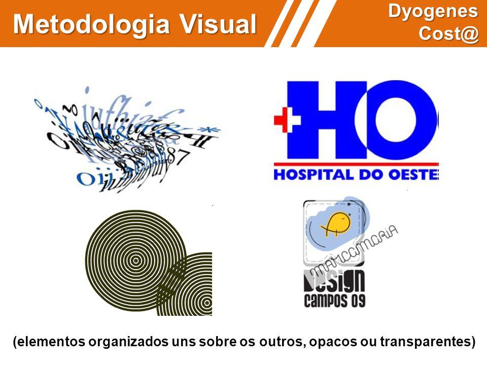 (elementos organizados uns sobre os outros, opacos ou transparentes) Metodologia Visual Dyogenes Cost@