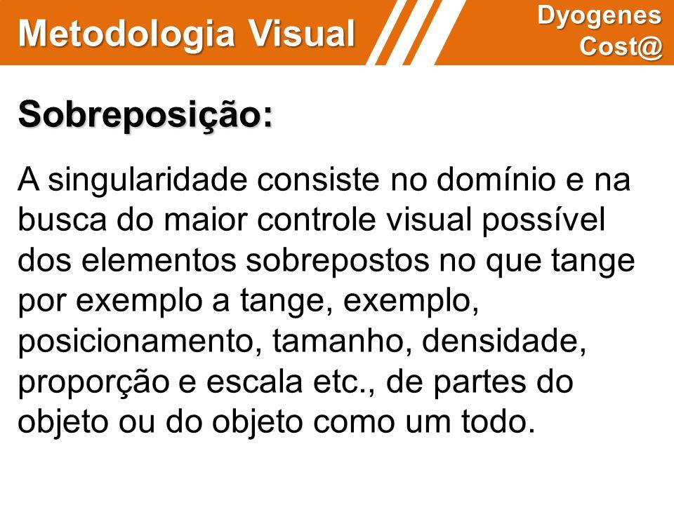 Metodologia Visual Dyogenes Cost@ Sobreposição: A singularidade consiste no domínio e na busca do maior controle visual possível dos elementos sobrepo