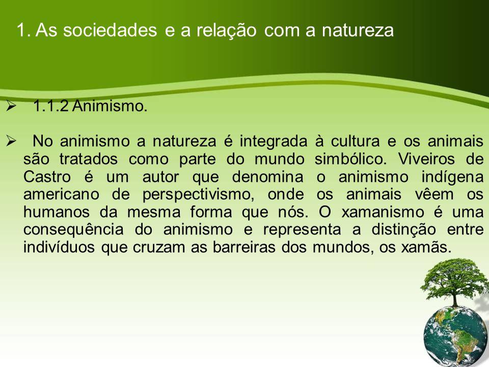 1.As sociedades e a relação com a natureza 1.1.3 Totemismo.