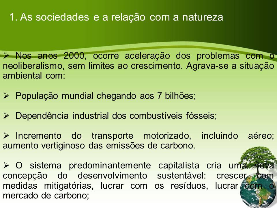 Nos anos 2000, ocorre aceleração dos problemas com o neoliberalismo, sem limites ao crescimento.