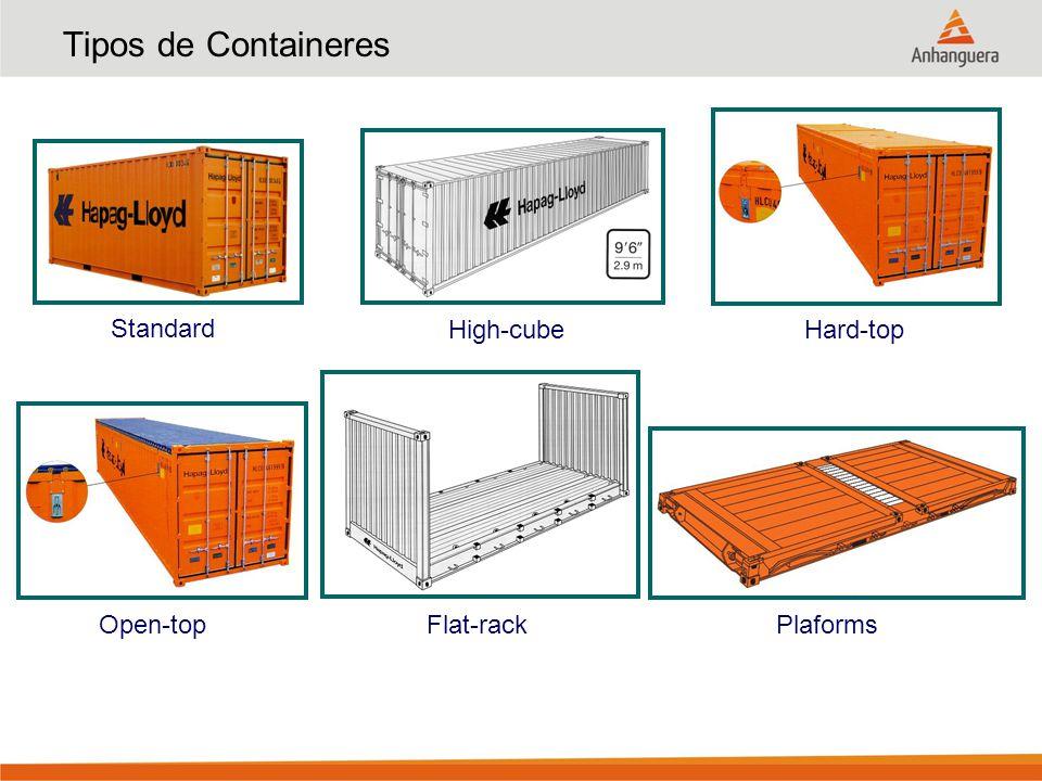 Tipos de Containeres Standard High-cubeHard-top Open-top Flat-rack Plaforms