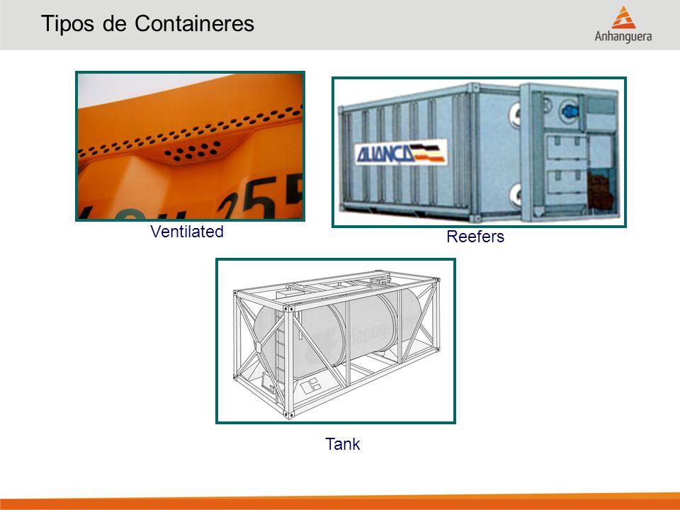 Acondicionamento Interno Travamento de carga com espaçadores Travamento de carga utilizando as laterais corrugadas do container Travamento de carga através do uso de air-bag