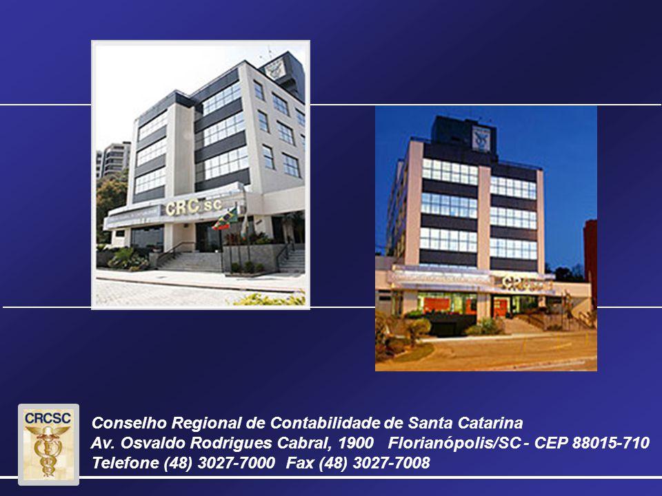 Conselho Regional de Contabilidade de Santa Catarina Av.