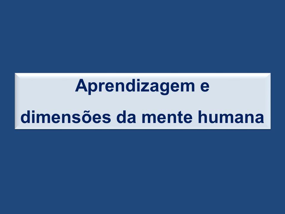 Aprendizagem e dimensões da mente humana Aprendizagem e dimensões da mente humana