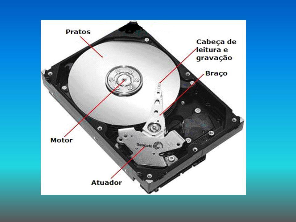História O disco rígido foi um dos componentes que mais evoluíram na história da computação.