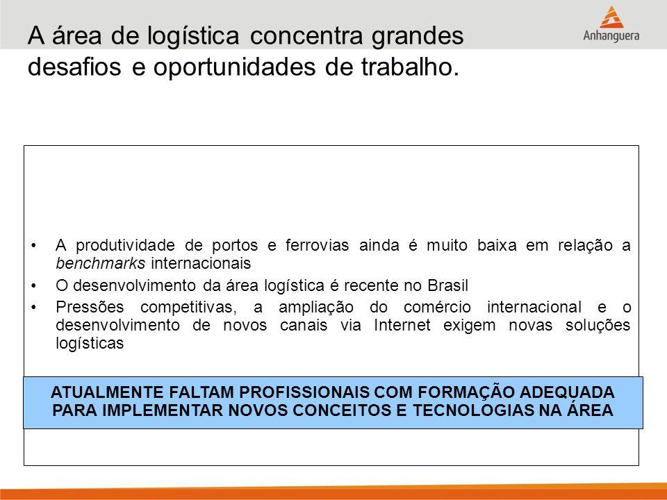 A área de logística concentra grandes desafios e oportunidades de trabalho. A produtividade de portos e ferrovias ainda é muito baixa em relação a ben