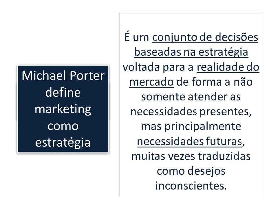 Kotler ensina que: É um conjunto de decisões baseadas na estratégia voltada para a realidade do mercado de forma a não somente atender as necessidades