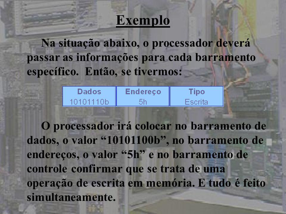 *Barramento Assíncrono: cada operação possui o seu próprio sinal de indicação de operação, um aperto de mão.