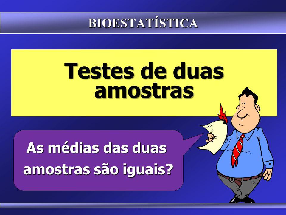 TEST T TEST T Serve para comparar as médias de dois grupos amostrais Duas hipóteses possíveis: Duas hipóteses possíveis: As médias são iguais As média