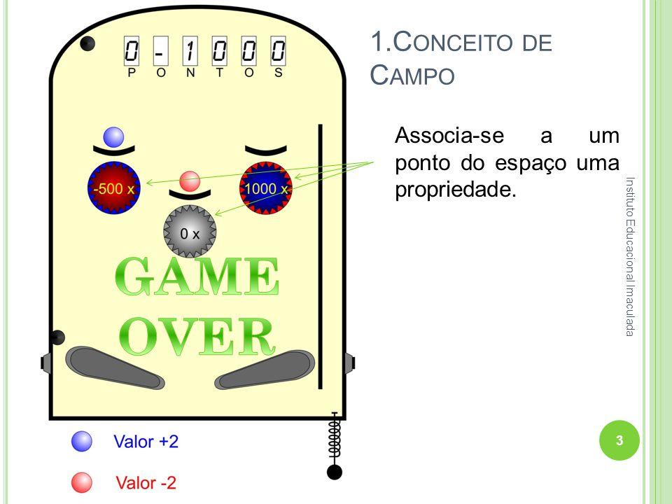 1.C ONCEITO DE C AMPO Associa-se a um ponto do espaço uma propriedade. 3 Instituto Educacional Imaculada