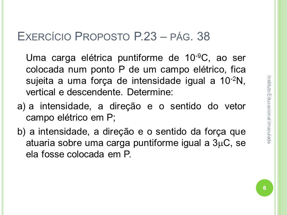 E XERCÍCIO P ROPOSTO P.24 – PÁG.