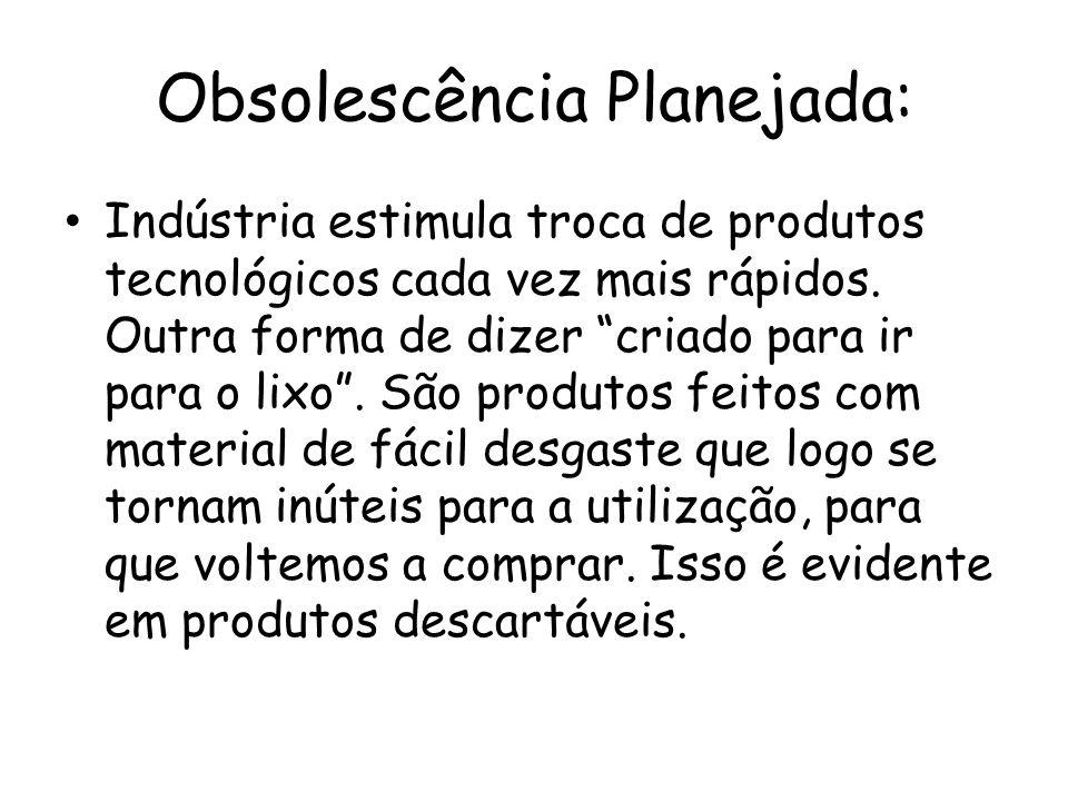 Obsolescência Planejada: Indústria estimula troca de produtos tecnológicos cada vez mais rápidos. Outra forma de dizer criado para ir para o lixo. São