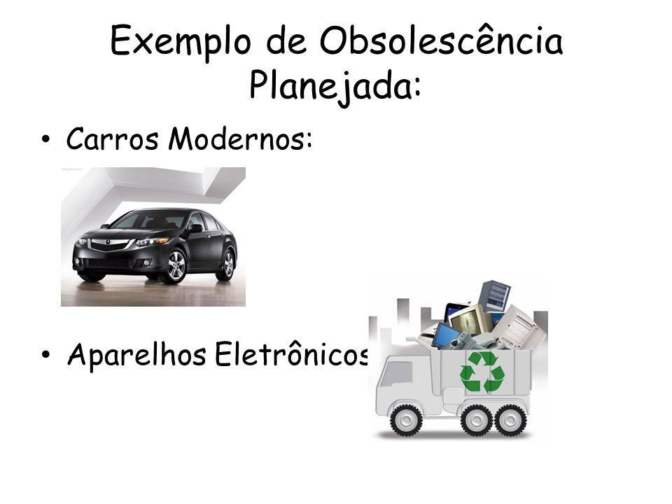Exemplo de Obsolescência Planejada: Carros Modernos: Aparelhos Eletrônicos: