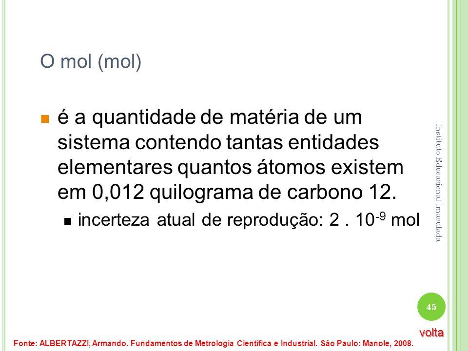 O mol (mol) é a quantidade de matéria de um sistema contendo tantas entidades elementares quantos átomos existem em 0,012 quilograma de carbono 12. in