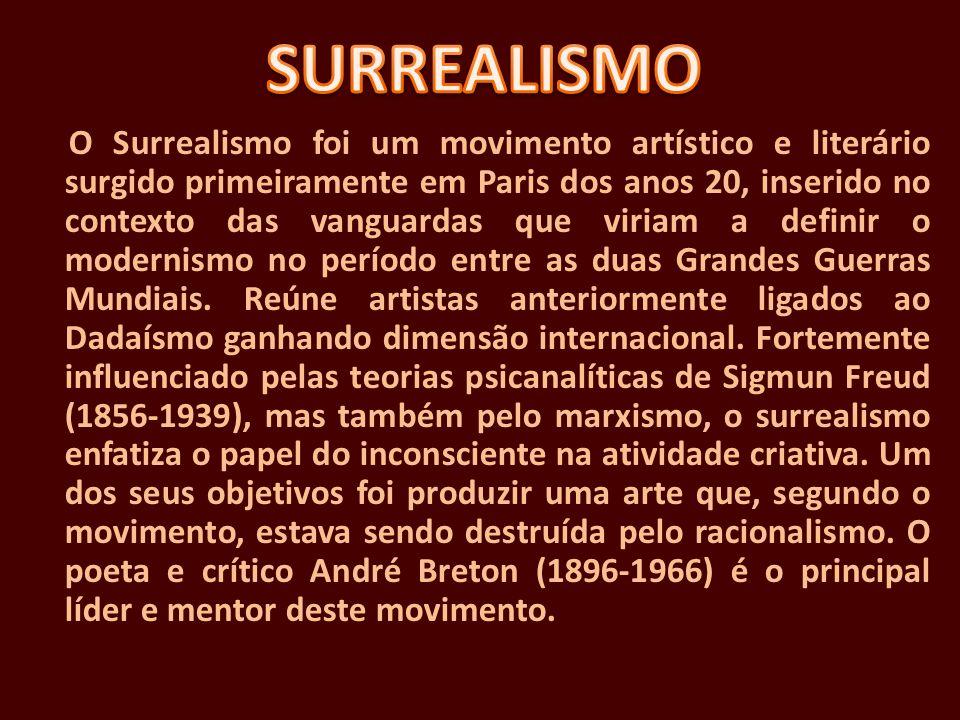 O Surrealismo foi um movimento artístico e literário surgido primeiramente em Paris dos anos 20, inserido no contexto das vanguardas que viriam a defi