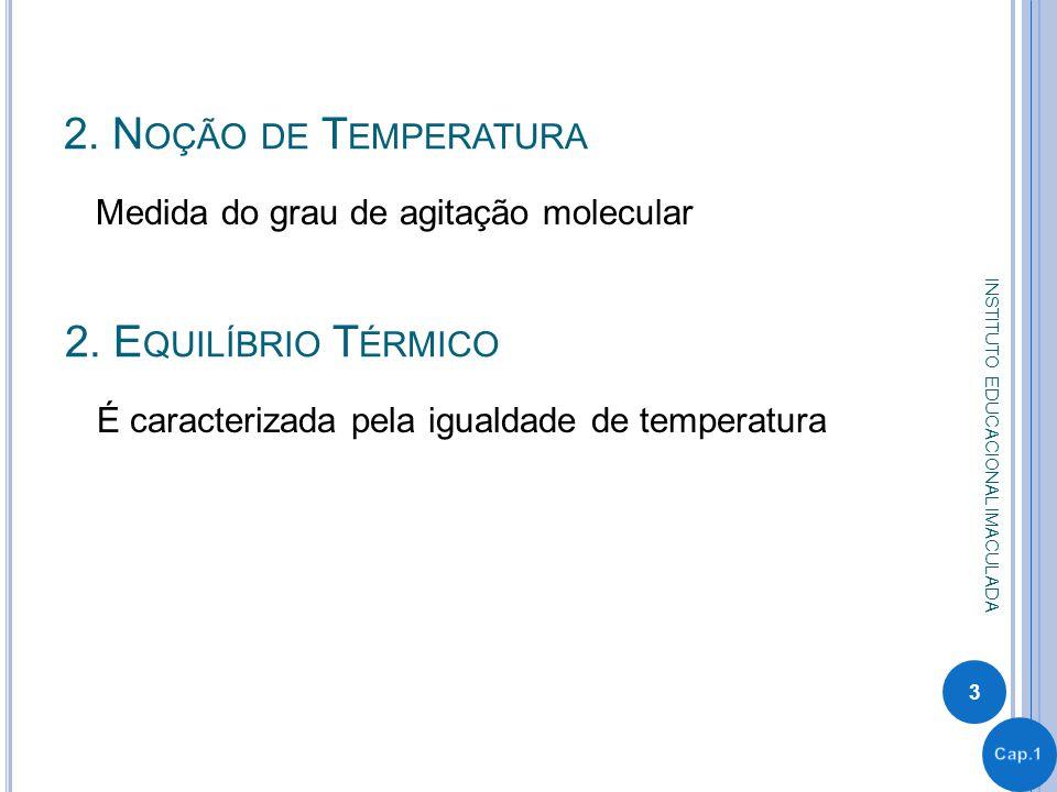 1.T ERMOMETRIA – A MEDIDA DA T EMPERATURA Grandeza Termométrica É a grandeza que permite associar uma temperatura a um sistema.