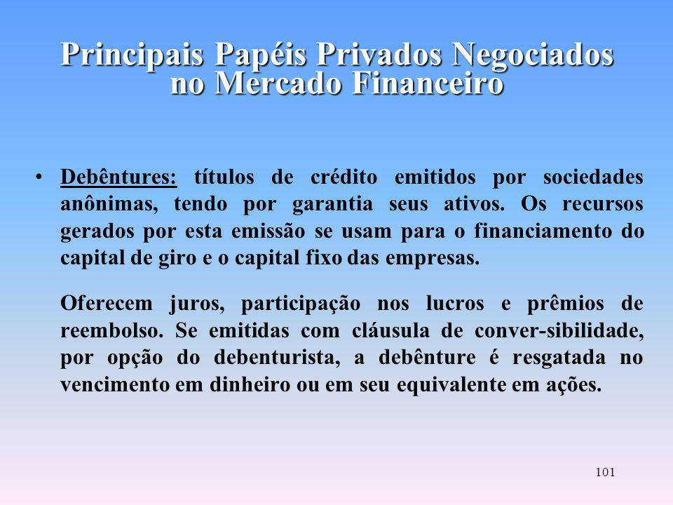 100 Commercial Papers: nota promissória de curto prazo emitida por sociedade tomadora de recursos para financiar seu capital de giro.