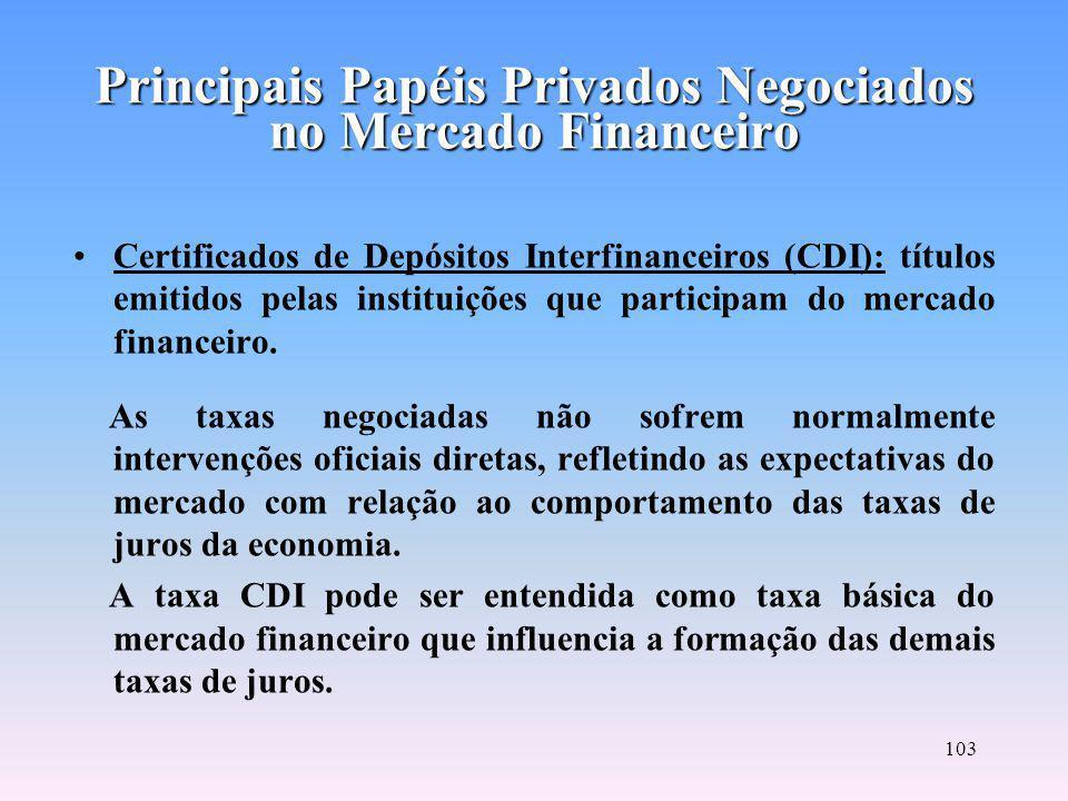 102 Letras de Câmbio: são emitidas pelos financiados dos contratos de crédito.