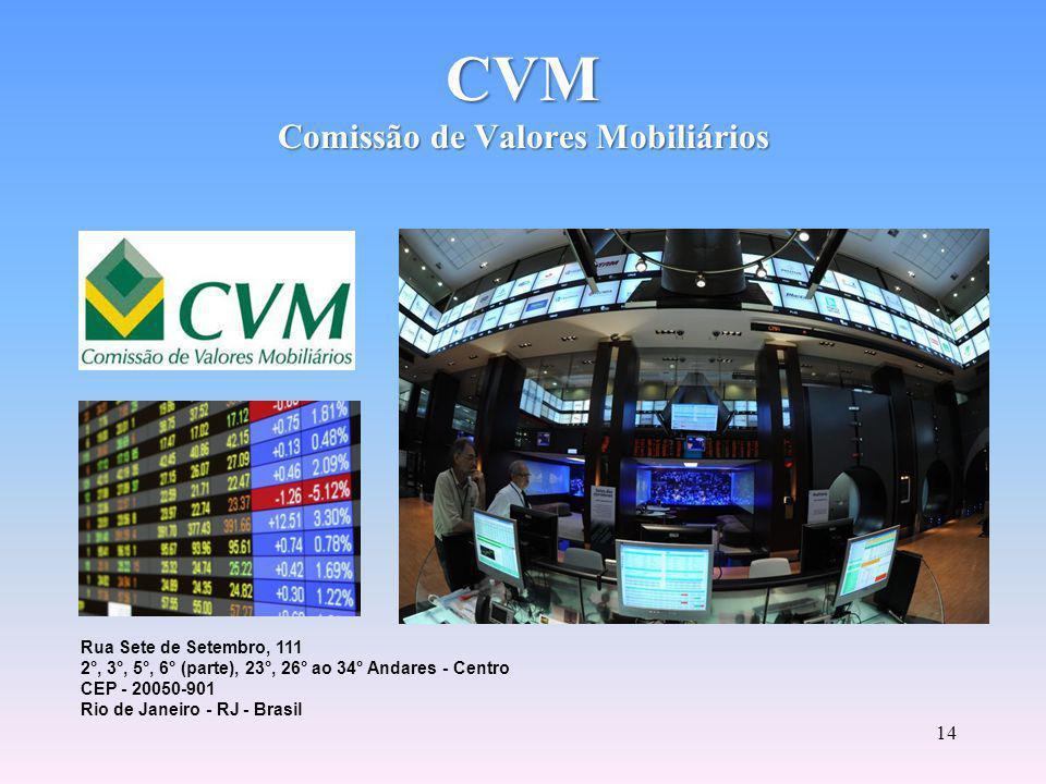 13 Autarquia vinculada ao Ministério da Fazenda.Incentiva a poupança no mercado acionário.