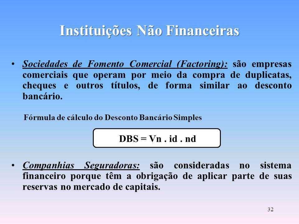 31 Sociedades Corretoras Instituições que efetuam, com exclusividade, a intermediação financeira nos pregões das bolsas de valores, das quais são associadas, por meio da compra de um título patrimonial.