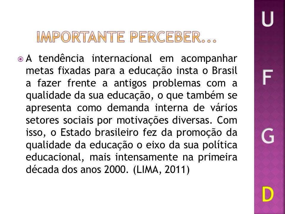 A tendência internacional em acompanhar metas fixadas para a educação insta o Brasil a fazer frente a antigos problemas com a qualidade da sua educaçã