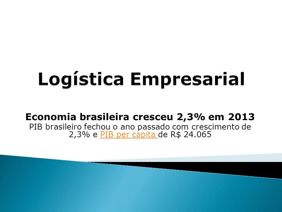 Economia brasileira cresceu 2,3% em 2013 PIB brasileiro fechou o ano passado com crescimento de 2,3% e PIB per capita de R$ 24.065PIB per capita