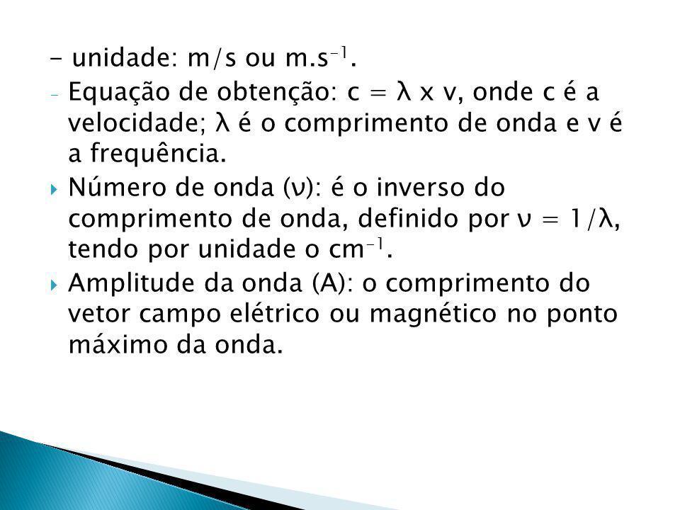 - unidade: m/s ou m.s -1.