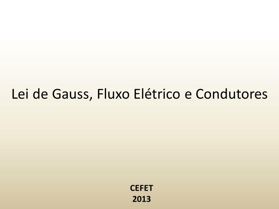 Lei de Gauss, Fluxo Elétrico e Condutores CEFET 2013