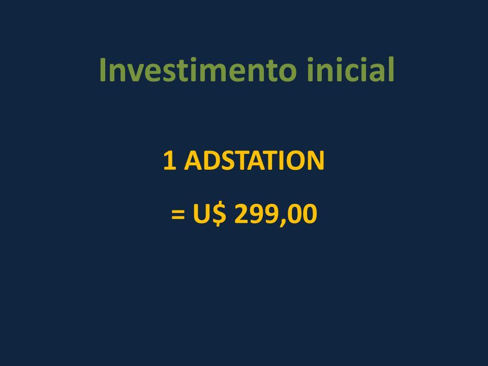 Investimento inicial 1 ADSTATION = U$ 299,00