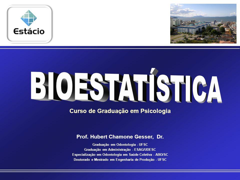 BIOESTATÍSTICA DIAGRAMA DE DISPERSÃO Mostra o comportamento de duas variáveis quantitativas (com dados numéricos).