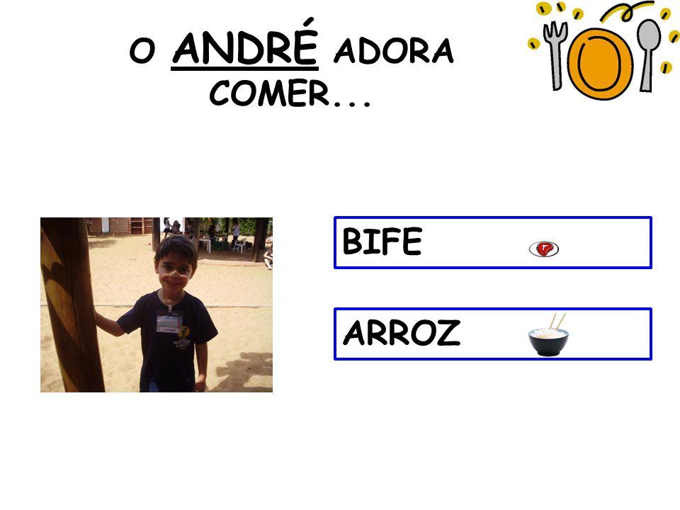 O ANDRÉ ADORA COMER... BIFE ARROZ