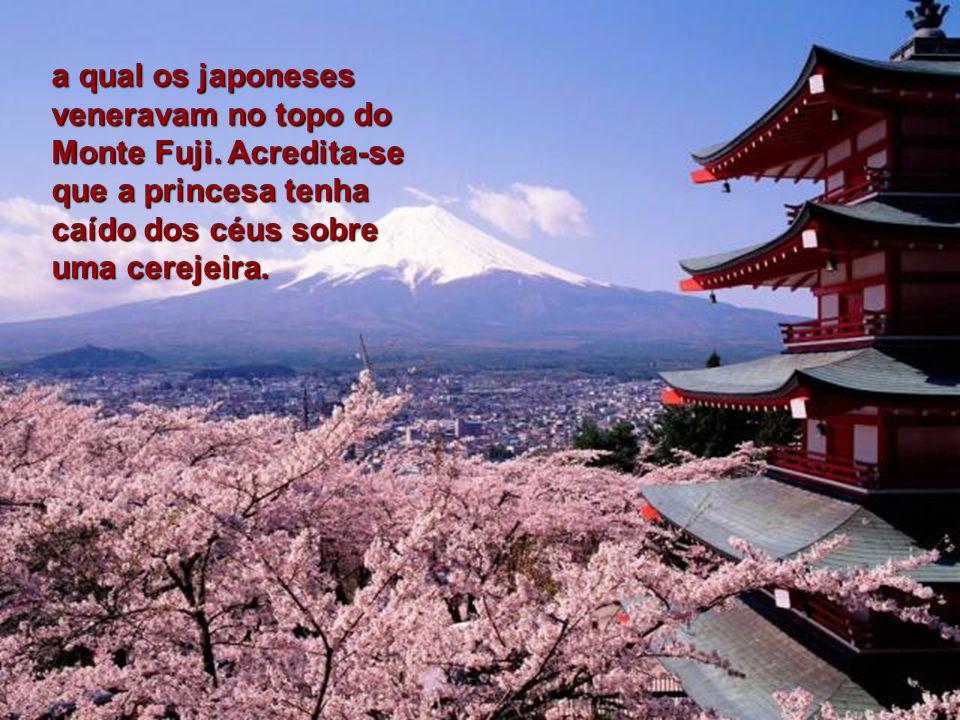a qual os japoneses veneravam no topo do Monte Fuji.