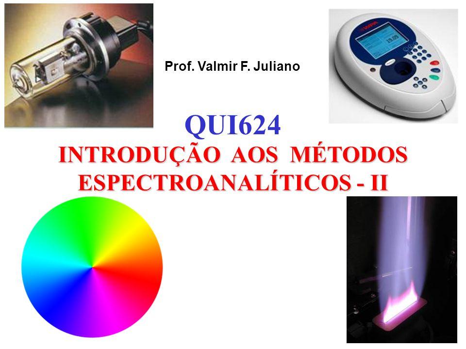 Prof. Valmir F. Juliano INTRODUÇÃO AOS MÉTODOS ESPECTROANALÍTICOS - II QUI624